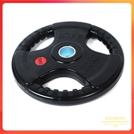 20KG Olympic Weight plates 5cm Rubber Coated Iron Plates Tri Grip Dumbbell Barbell Plate Weight Lifitng Gym Equipment