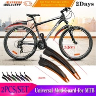 2pcs/set Bicycle Mudguard Mountain Bike Fenders Set Mud Guards Bicycle Mudguard Wings For Bicycle Front/Rear Fenders Blue MTB Mud Guard
