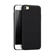 Case Hitam Black Matte Iphone 6+ / 6 plus Softcase Polos Slim Silikon HP