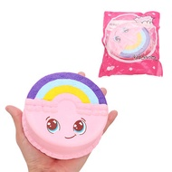 Rainbow Smile Cake Squishy 12CM Slow Rising With Packaging Collection Gift Soft Toy