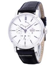 Orient Automatic Power Reserve Men's Black Leather Strap Watch FEZ09004W
