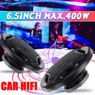 2pcs Car Speaker 6.5 inch 400W Car Subwoofer HIFI Coaxial Speaker Car Rear /Front Door Audio Music Stereo Coxial Speakers 3 Way 8rca