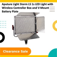 (Clearance Sales) Aputure Light Storm LS 1s LED Light with Wireless Controller Box and V-Mount Battery Plate