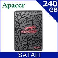 【新魅力3C】全新 Apacer 宇瞻 SSD AS350 240GB 240G 2.5吋 內接式固態硬碟