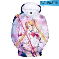 New Arrival Sailor Moon 3D Hoodies Boys/Girls Fashion Casual Kawaii Harajuku Style Anime Hoodie Print Sailor Moon Sweatshirt Top3Dprint hoodie hoodies sweatshirt coat