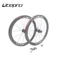 Litepro AERO TXB 11Speed Wheelset High Rim 20 Inch 451 Disc V Brake Folding Bike Wheels For Dahon Fnhon P8 Bicycle