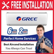 Gree New 1HP / 1.5HP / 2HP Cold Plasma (GWC09QB) 1.0HP Golden Fin Air Conditioner FOC Professional Aircond Installation in Covered Area