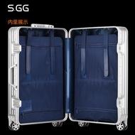 SGG全金屬鋁鎂合金拉桿箱男24萬向輪女行李箱20寸商務旅行箱硬29