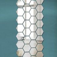 Hexagon / Hexagon Mirror Wall Stickers (8 * 8cm)