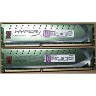 金士頓DDR3-1600 4G+4G=8G雙面顆粒KHX1600C9D3LK2/8GX桌上型記憶體4GB低電壓8GB