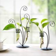 tmb_949#上新  創意試管花瓶小清新鐵藝水培容器個性植物透明玻璃瓶裝飾插花擺件