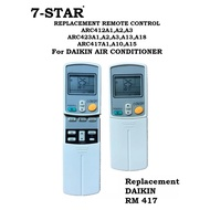 REPLACEMENT DAIKIN AIRCON REMOTE CONTROL For DAIKIN AIR CONDITIONER REMOTE CONTROL