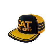 CAT Diesel Power vintage USA trucker cap Half Mesh and patched logo premium quality