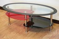 《蔓越莓》大茶几 強化玻璃 不銹鋼腳 玻璃茶几 置物 !新生活家具! 樂天雙12