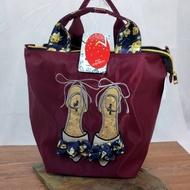 - Card Japan Mis Zapatos Cork Floral Bowknot Nylon 3 Way