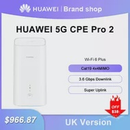 NEW UK Version HUAWEI 5G CPE Pro2 Cat19 4x4MIMO H122-373 LTE 5G Router Wireless WiFi 6 Plus NSA+SA 3.6 Gbps Support Sim Card
