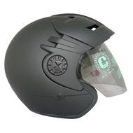 智同 CA330 半罩式安全帽 大頭圍 加大款 大帽舌加上止水設計 大片抗UV護目鏡 可拆式內襯