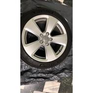 Audi 原廠鋁圈17吋4顆含胎皮