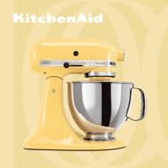 【KitchenAid】桌上型攪拌機(抬頭型)5Q(4.8L)奶油黃 3KSM150PSTMY