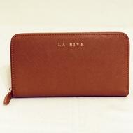 La Rive ❤️經典時尚 十字紋牛皮長夾
