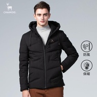 【Chamois】Urban系列-連帽無縫羽絨外套(經典黑)