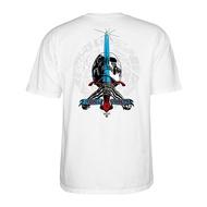 Powell-Peralta Triple P Skull & Sword Banner T恤 (白)《Jimi》