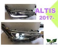 小亞車燈改裝*新品 ALTIS 2017 2018 年 11.5代 低階升級高階 內建LED 黑框 魚眼 大燈