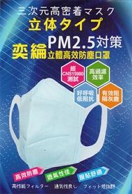 ◤酒精加購◢ 奕綸 立體高效防塵防霾pm2.5 口罩 (2片/包)