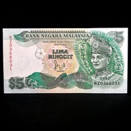 Malaysia RM5 5 Ringgit 6th UNC NZ replacement banknote NZ0366031
