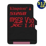 Kingston 512G 512GB microSDXC 100MB/s React microSD U3 SD記憶卡
