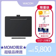 【Wacom】Intuos Comfort Plus Medium 藍牙繪圖板-黑色(CTL-6100WL/K0-C)
