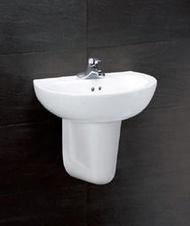 家+廚具衛浴水電材料行Caesar凱撒面盆半瓷腳【LS2150D/P2441】1800元(不含龍頭)