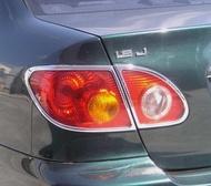 ~圓夢工廠~ Toyota Altis 9代 2001~2007 鍍鉻銀改裝尾燈框飾貼 後燈框