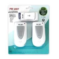 PRO-WATT華志 110V插電式無線門鈴雙門鈴組合 呼叫看護 P218B