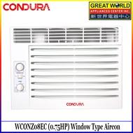 Condura 6s WCONZ008EC1 (0.75HP) Window Type Aircon, Non-Inverter