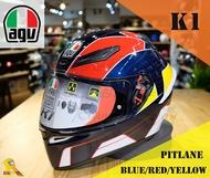 ~任我行騎士部品~AGV K1 亞洲版日規 單鏡片 全罩 安全帽 #PITLANE BLUE RED YELLOW
