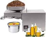Kitchen Nut Seeds Linseeds Oil expeller Automatic Oil Press Machine Oil Press Extractor for Flax Peanut Hemp Perilla Pumpkin Seed Sunflower Canola Sesame Commercial Grade