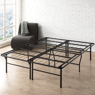 "Best Price Mattress Queen Bed Frame - 18"" Metal Platform Bed Frame w/Heavy Duty Steel Slat Mattress Foundation (No Box Spring Needed), Queen Size"