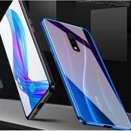 雙面萬磁王OPPO Realme 3 Pro / X Lite 手機殼 鎂鋁合金框 鋼化玻璃殼