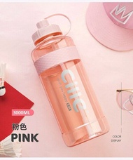 Brand 1000ml BPA Free Sport Drinking Water Bottle with Straw 1L 2L 3L Plastic Water Drinking Bottle for Water Space Bottles