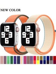 Nylon loop strap for Apple Watch band 40mm 44mm 38mm 42mm Sport breathable smart watchband bracelet iWatch series 6 5 4 3 2 1 SE