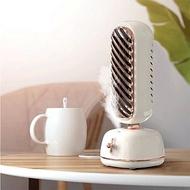 【風扇加濕兩用】復古立式塔扇桌面風扇辦公室家用降溫噴霧冷風扇