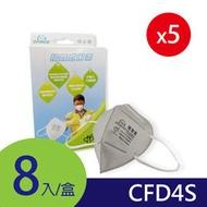 【皓翔】GRANDE防霾│工業歐規FFP1-CFD4S│3D立體活性碳口罩│8片/盒(5入組)  下標前請先詢問現貨狀況