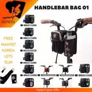 Handlebar Folding Bike Bag Brompton fnhon trifold dahon tern pikes/