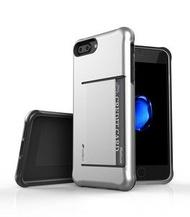 Melkco. - Apple iPhone 8 Plus / 7 Plus Kubalt系列Halo Layer 耐衝擊手機保護套 (銀色)