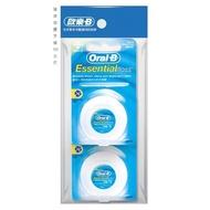 歐樂B Oral-B 薄荷微蠟/無蠟牙線2入組 50公尺
