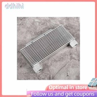 Ddhihi 15 Rows Universal Motorcycle Engine Oil Cooler Radiator Aluminum Alloy Silver