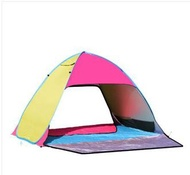 防曬全自動帳篷戶外3-4人1秒速開免搭建露營家庭2人沙灘帳篷