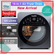 Innofood Capacity Air Fryer Oven 16 In 1 With Fermenting And Dehydrating Function (14.0L) KT-CF14D
