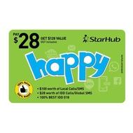 Starhub Prepaid E-Top UP Happy $128
